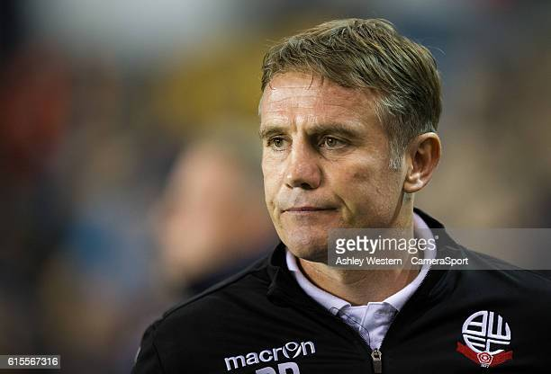 Bolton Wanderers manager Phil Parkinson during the Sky Bet League One match between Millwall and Bolton Wanderers at The Den on October 18 2016 in...