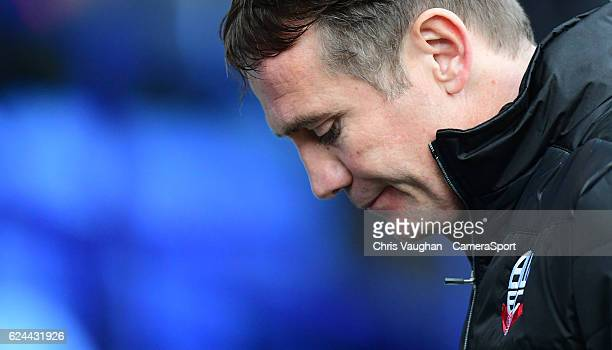 Bolton Wanderers manager Phil Parkinson during the Sky Bet League One match between Bolton Wanderers and Millwall at Macron Stadium on November 19...