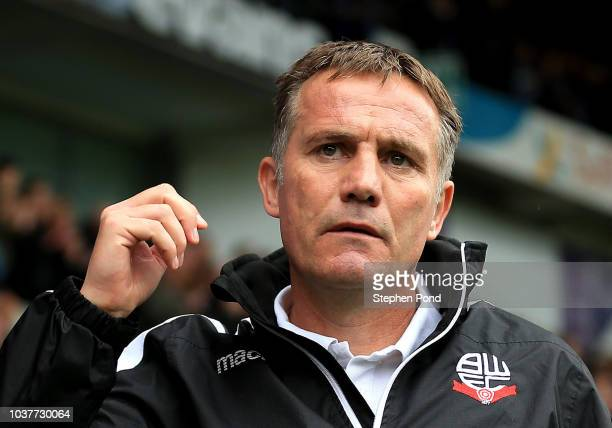 Bolton Wanderers Manager Phil Parkinson during the Sky Bet Championship match between Ipswich Town and Bolton Wanderers at Portman Road Stadium on...