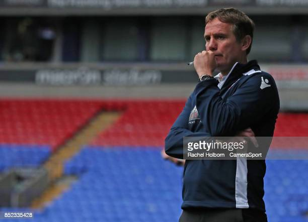 Bolton Wanderers' Manager Phil Parkinson looks dejected as the match enters the final minute during the Sky Bet Championship match between Bolton...