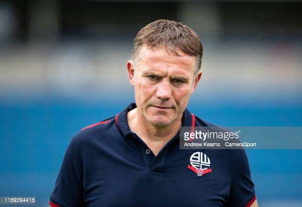 Bolton Wanderers' manager Phil Parkinson pictured before the match during the Sky Bet Leauge One match between Wycombe Wanderers and Bolton Wanderers...