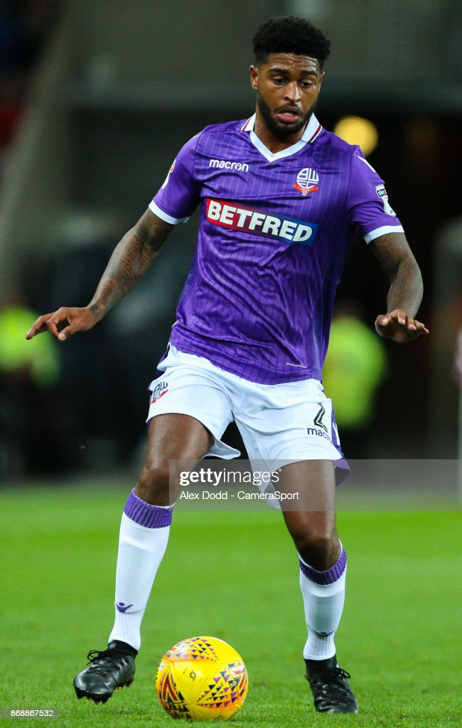 Bolton Wanderers' Mark Little during the Sky Bet Championship match between Sunderland and Bolton Wanderers at Stadium of Light on October 31, 2017 in Sunderland, England.
