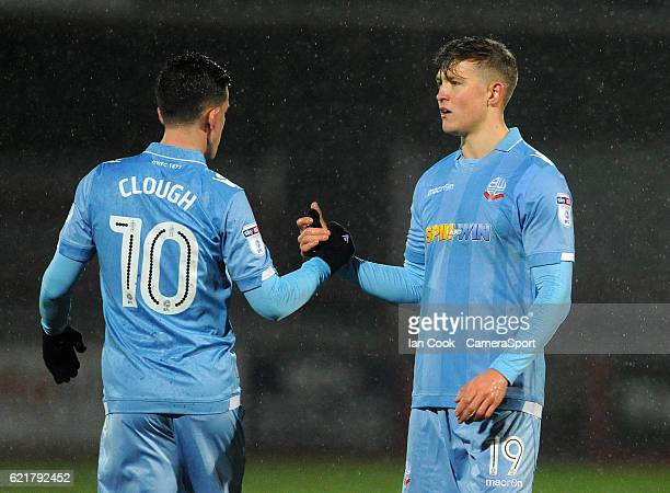 Bolton Wanderers' Max Clayton looks dejected at the final whistle during the Checkatrade Trophy Northern Group A match between Cheltenham Town and...