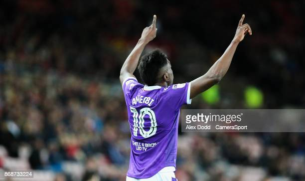 Bolton Wanderers' Sammy Ameobi celebrates scoring his side's first goal during the Sky Bet Championship match between Sunderland and Bolton Wanderers...