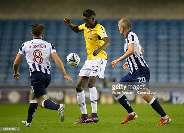 Bolton Wanderers' Sammy Ameobi in action during todays match during the Sky Bet League One match between Millwall and Bolton Wanderers at The Den on...