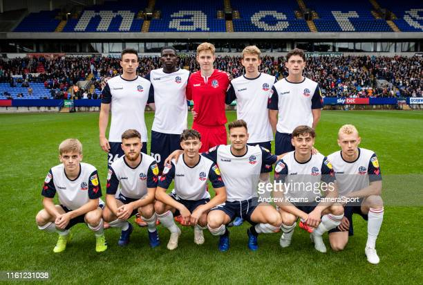 Bolton Wanderers' team pictured before kick off Back Row Liam Edwards Yoan Zouma Matthew Alexander Harry Brockbank Joe White Front Row Ronan Darcy...