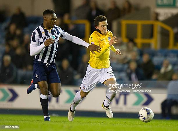 Bolton Wanderers' Zach Clough in action during todays match during the Sky Bet League One match between Millwall and Bolton Wanderers at The Den on...