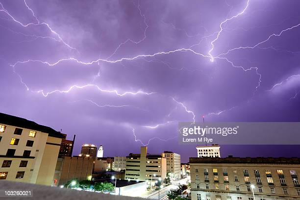 bolts above lincoln - lincoln nebraska stock pictures, royalty-free photos & images