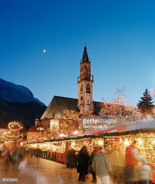 Bolzano Christmas Market at dusk