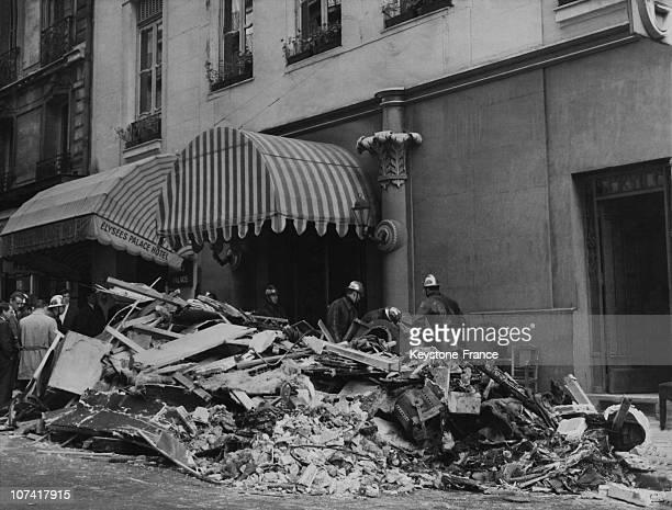 Bomb Attack At Shocking Cabaret At Marignan Street In Paris On October 1961