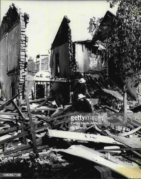 Bomb blast which destroyed a row of terrace houses in Liverpool St Darlinghurst on Friday evening at about 1030amGeneral scene's of the explosion...