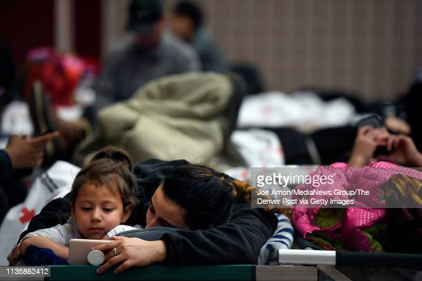 A bomb cyclone pileup on I25 stranded Isabella Lara 5 and her mother Alexis Calderon 22 of Fort Worth Texas at the Douglas County Fairgrounds event...
