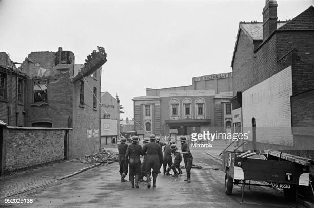 Bomb Damage at Birmingham, Circa 1940.