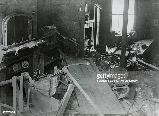 Bomb damage following a Zeppelin raid at St Leonards East London The Zeppelin developed in 1914 could travel at speeds of 136 kph and heights of 4250...