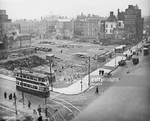 Bomb damage in Belfast during World War II 13th March 1942