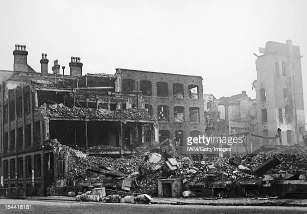 Bomb Damage In Birmingham England C 1940 A scene of devastation after an air raid in Birmingham c 1940