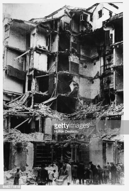Bomb Damage In Madrid