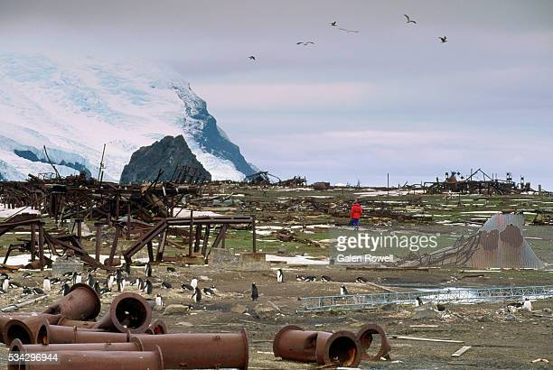 bomb damage on thule island - falklands war stock pictures, royalty-free photos & images