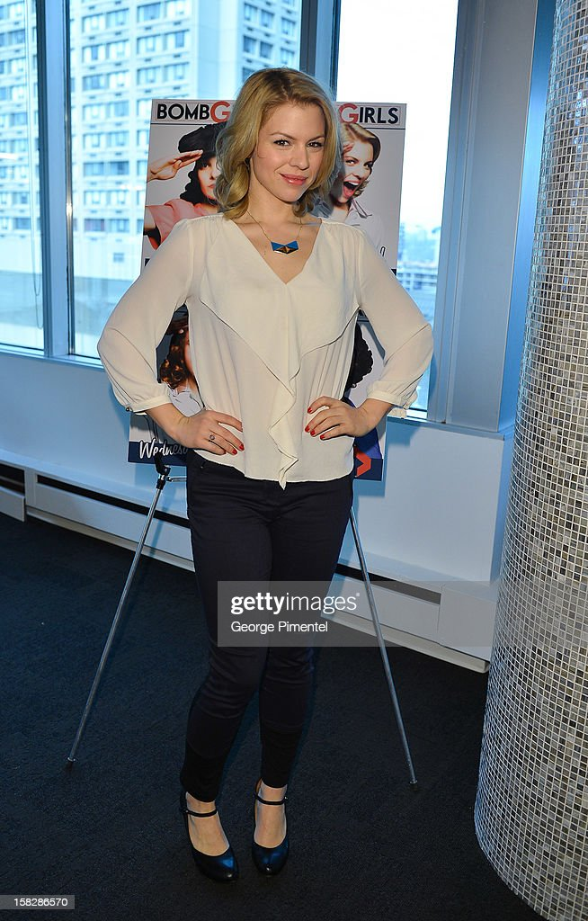 'Bomb Girls' actress Ali Liebert attends the Shaw Media Press Conference held at the Shaw Media Building on December 12, 2012 in Toronto, Canada.