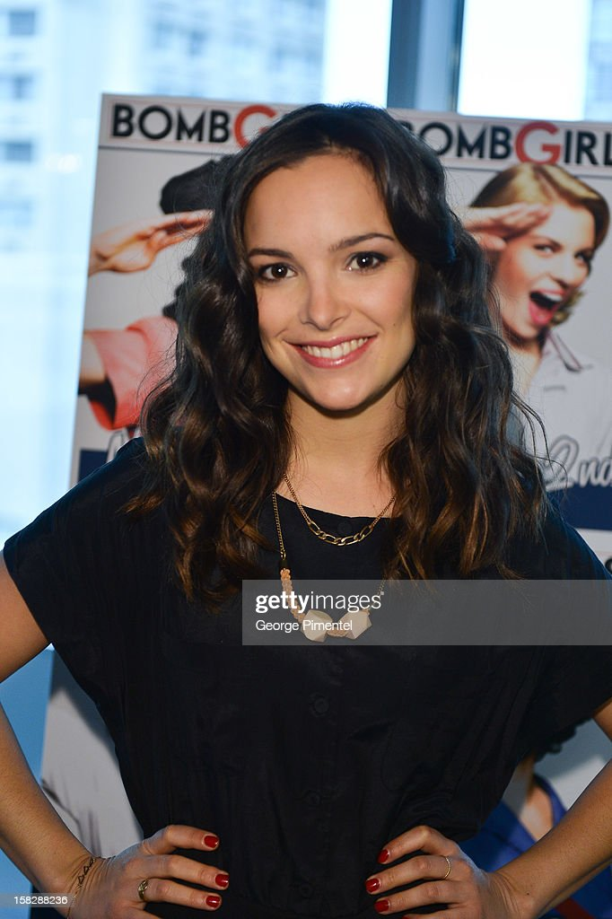 'Bomb Girls' actress Jodi Balfour; attends the Shaw Media Press Conference held at the Shaw Media Building on December 12, 2012 in Toronto, Canada.