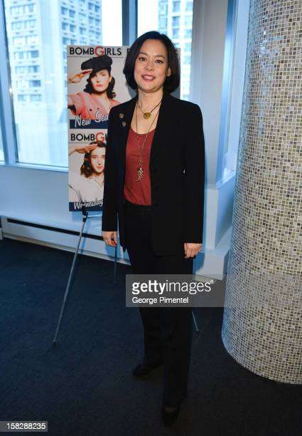 """Bomb Girls"""" actress Meg Tilly attends the Shaw Media Press Conference held at the Shaw Media Building on December 12, 2012 in Toronto, Canada."""