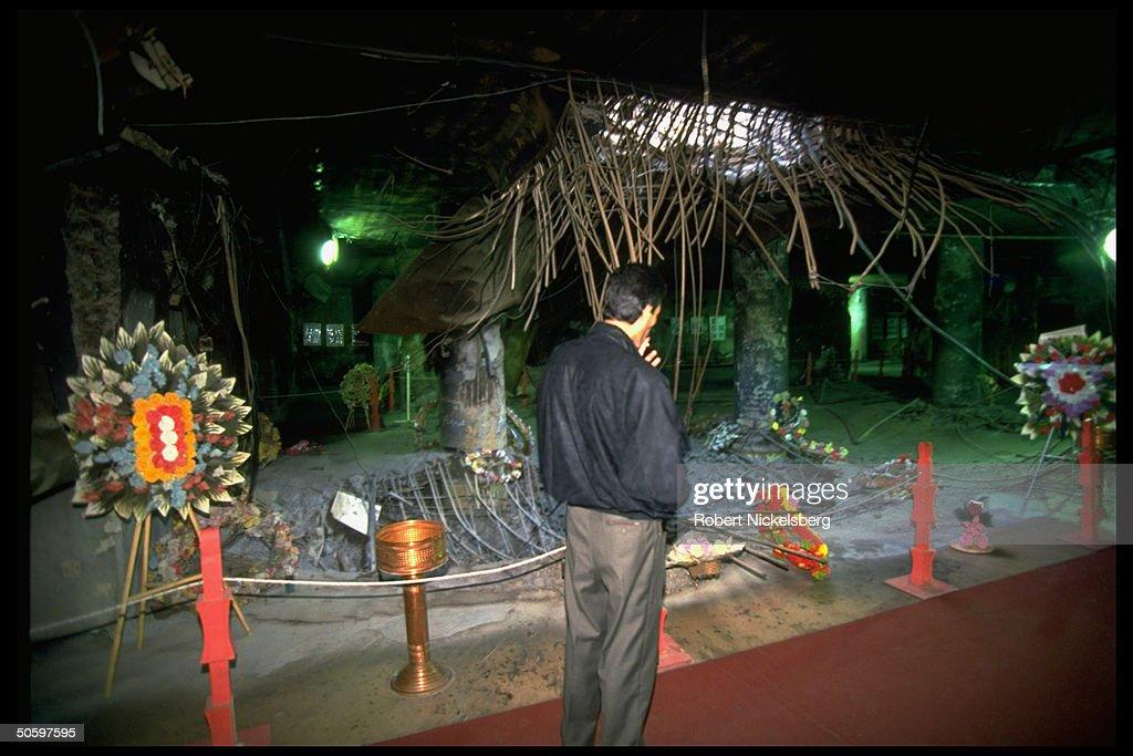 Bomb hole & memorial gallery at Al Ameri : News Photo