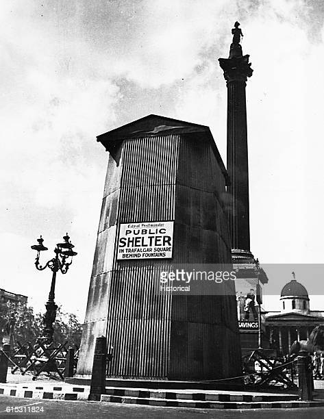 A bomb shelter in the Westminster section of London