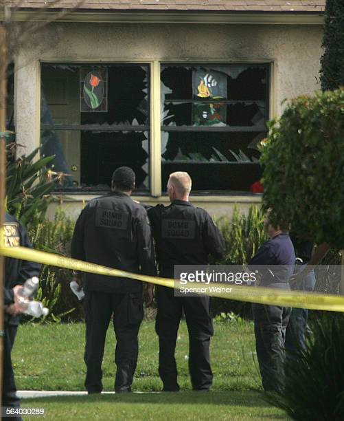 Bomb Squad waits to clear unexploded fireworks from Lakewood home after explosion ripped through the house packed with fireworks around 7am March 5...