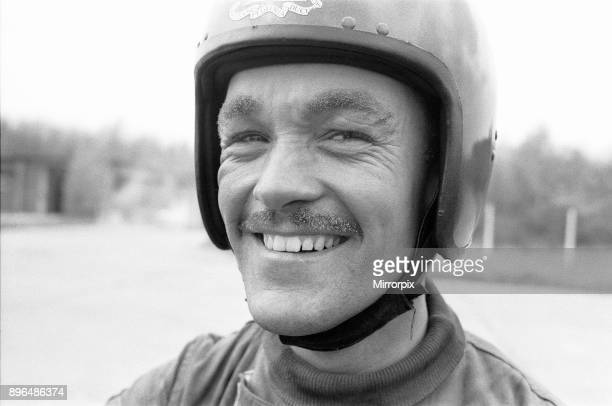 Bombardier Derek Shipley of the Royal Artillery Motorcycle Display Team seen here with singed moustache and eyebrows after travelling thorough the...