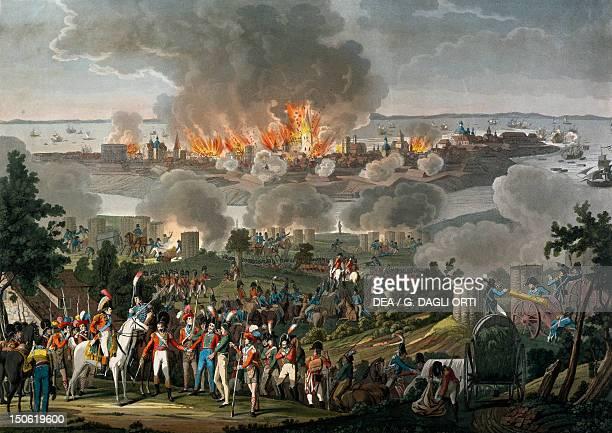 Bombardment of Copenhagen, 1807. Napoleonic Wars, Denmark, 19th century.