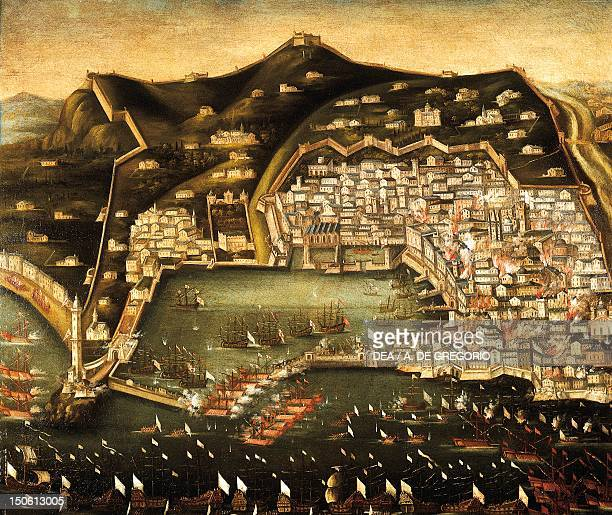 Bombardment of Genoa by the French navy 1684 Italy 17th century