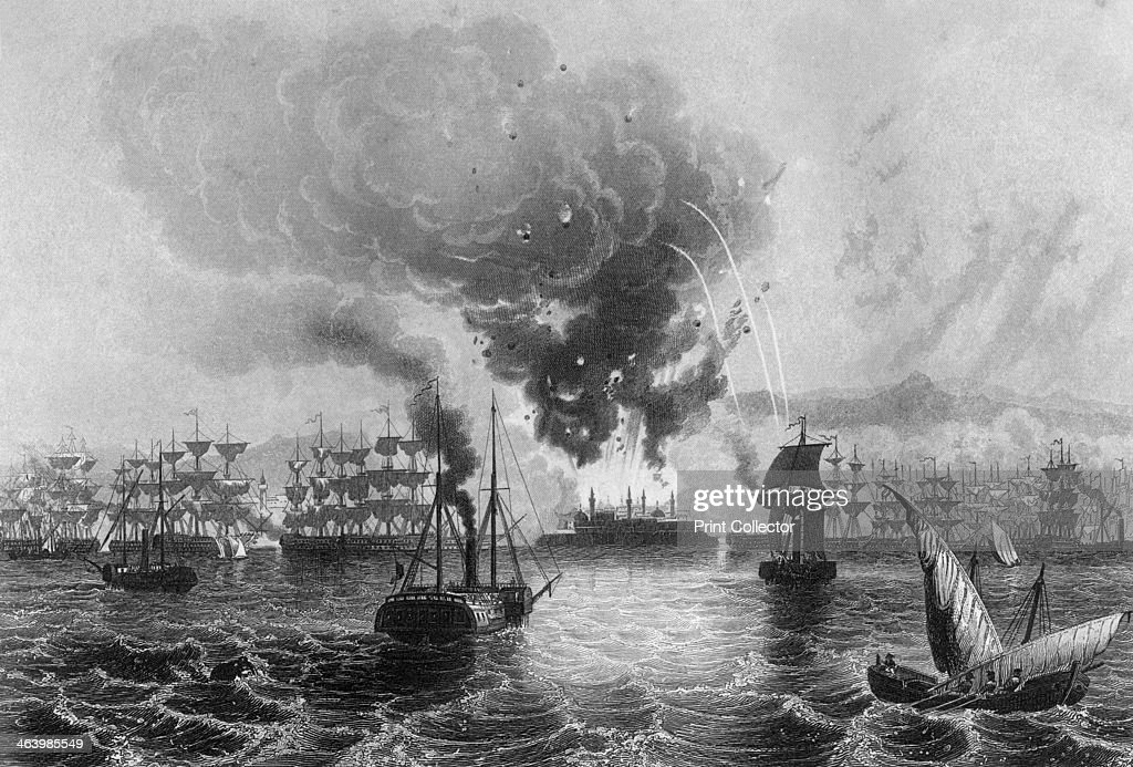 Bombardment of St Jean D'Acre by Admiral Sir Charles Napier, 3 November 1840 (c1857).Artist: H Winkles : News Photo