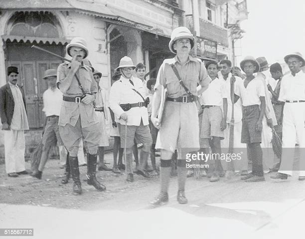 Bombay Military Chief Surveys Situation Bombay India MajorGeneral Scobell personally took charge of the situation when religious rioting broke out in...