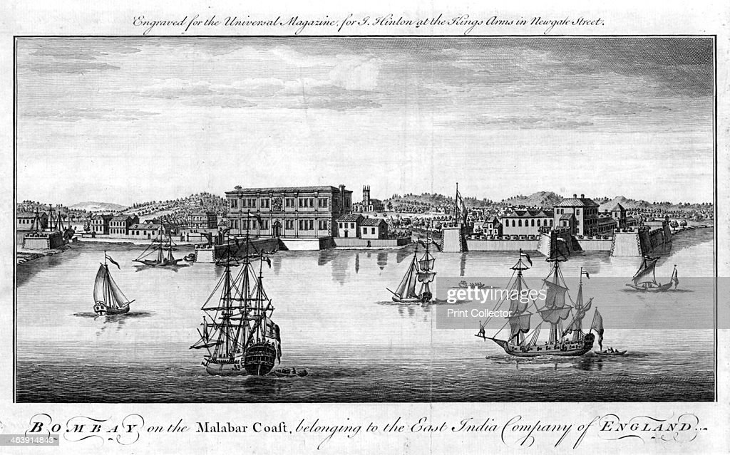 Bombay, the East India Company's port on the Malabar Coast of India, 1755. : News Photo