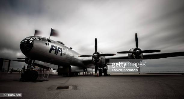b-29 bomber - b 29 superfortress stock photos and pictures