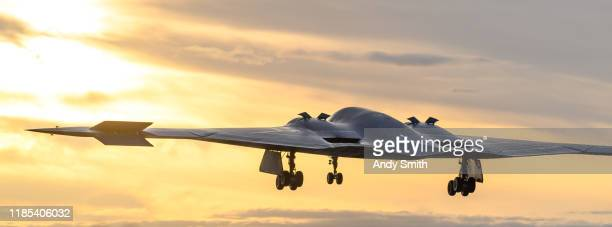 b2 bomber - stealth bomber stock photos and pictures