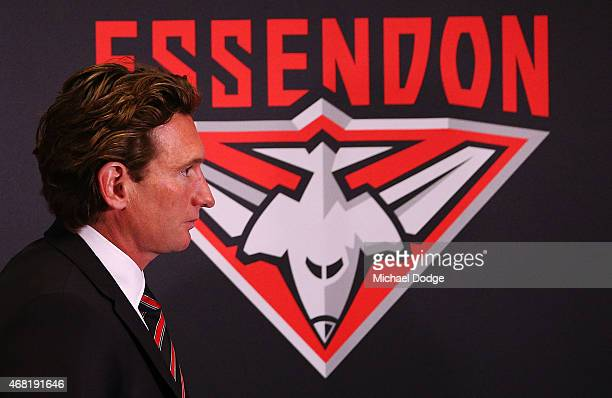 Bombers head coach James Hird leaves after speaking to media at Essendon Bombers headquarters after Essendon players were found not guilty from the...