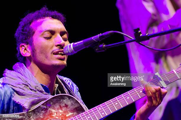 Bombino plays for the closure of the Democracy Biennal held in Turin at the Teatro Carignano