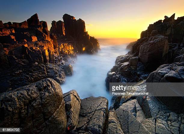 Bombo seascape sunset