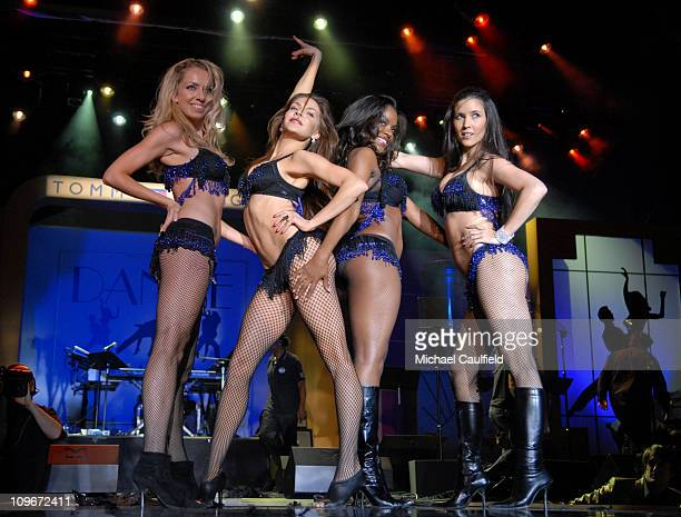 """Bombshell Babes perform during 14th Annual Race to Erase MS Themed """"Dance to Erase MS"""" - Show at Hyatt Regency Century Plaza in Century City,..."""