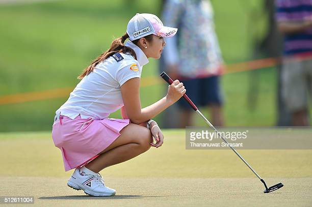 BoMee Lee of South Korea looks on during day three of the 2016 Honda LPGA Thailand at Siam Country Club on February 27 2016 in Chon Buri Thailand