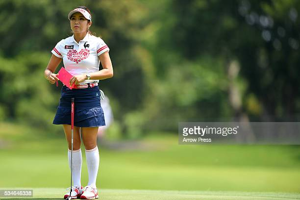 BoMee Lee of South Korea looks on during the first round of the Resorttrust Ladies at the Grandee Naruto Golf Club XIV on May 27 2016 in Naruto Japan