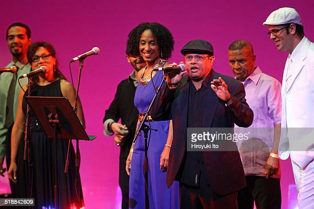 BomPlenazo Artists Collective performing at Main Theater at Hostos Community College on Saturday night October 11 2014This imageFrom left Nelson...