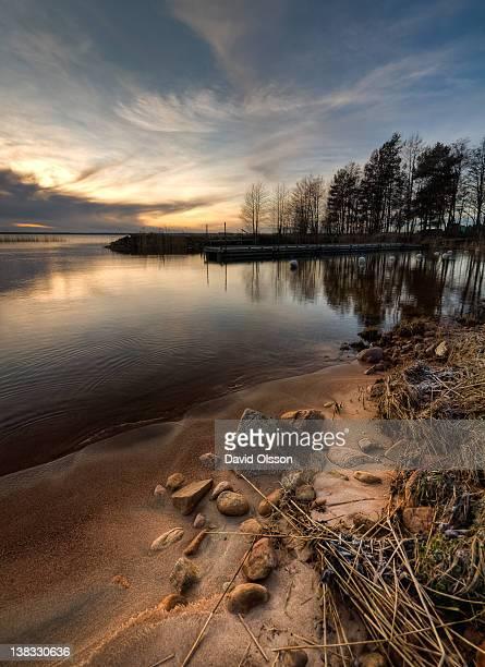 Bomstad beach in Karlstad