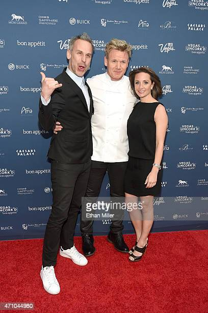 Bon Appetit magazine EditorinChief Adam Rapoport chef Gordon Ramsay and Vice President and Publisher of Bon Appetit magazine Pamela Drucker Mann...