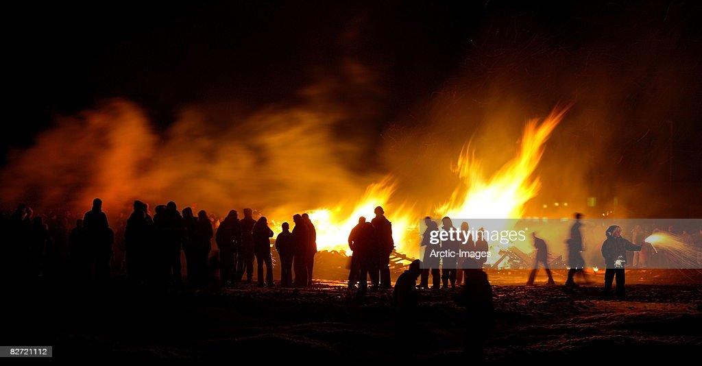 Bon Fire, New Year Celebration : Stock Photo
