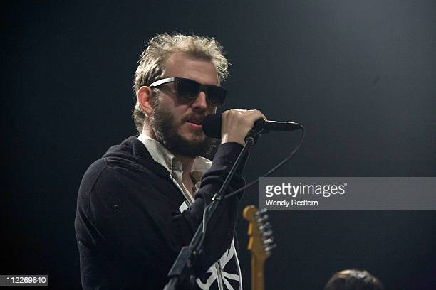 Bon Iver of Gayngs performs on stage during the first day of Coachella Valley Music Festival on April 15 2011 in Coachella United States