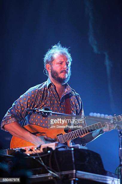 Bon Iver performing on stage at Wembley Arena in London on the 8th November, 2012.