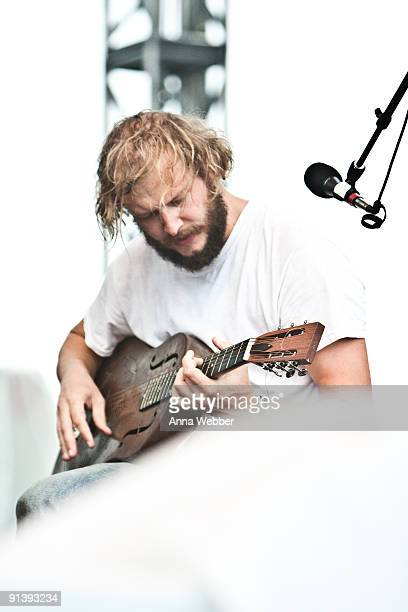 Bon Iver performs on day 2 of the Austin City Limits Music Festival at Zilker Park on October 3 2009 in Austin Texas