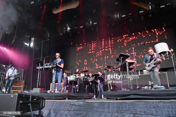 Bon Iver performs on the Lands End Stage during the 2018 Outside Lands Music And Arts Festival at Golden Gate Park on August 11 2018 in San Francisco...